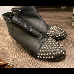 Steve Madden Black Boots with Studs